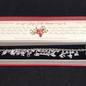 12 days of Christmas silver bracelet